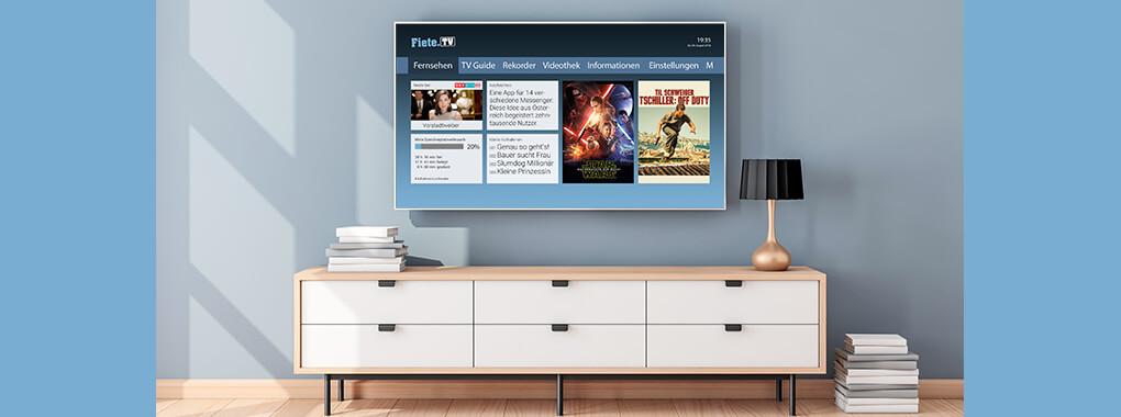 Neue Fernsehprodukte: bei Fiete.TV