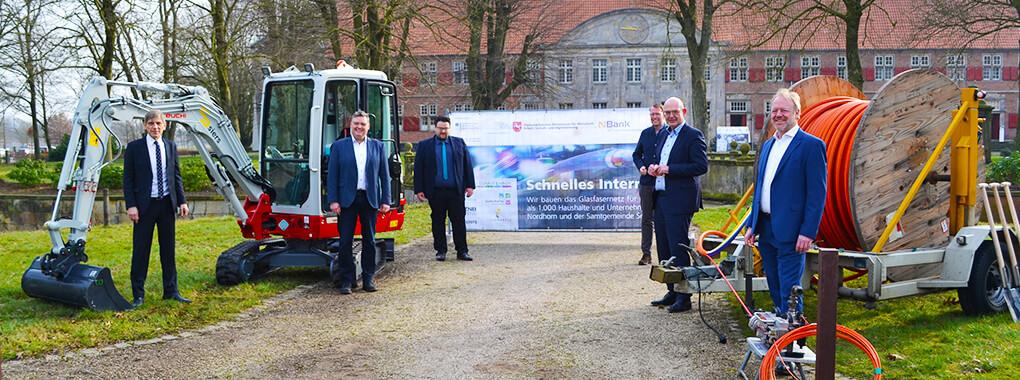 Erfolgreicher Spatenstich: In Nordhorn/Schüttorf