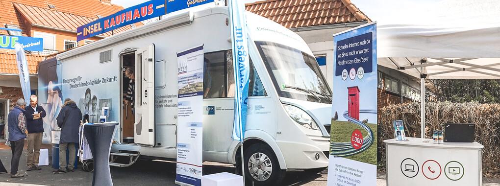 Breitbandmobil: Erfolgreicher Besuch auf Nordstrand
